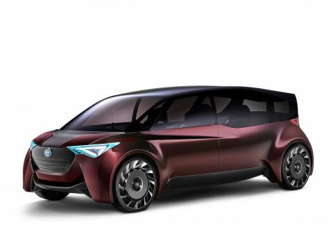 The Toyota Fine-Comfort Ride concept fuel cell vehicle.