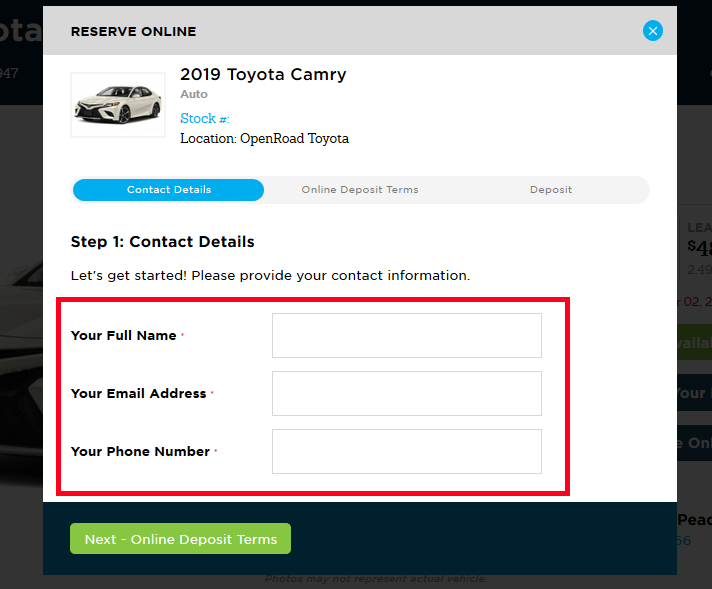 How To: Reserve Your Car Online