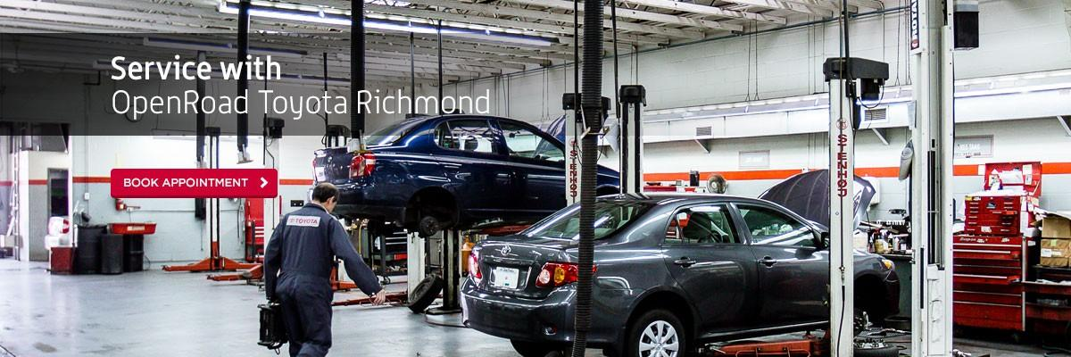 Book Service Appointment Online at OpenRoad Toyota Richmond