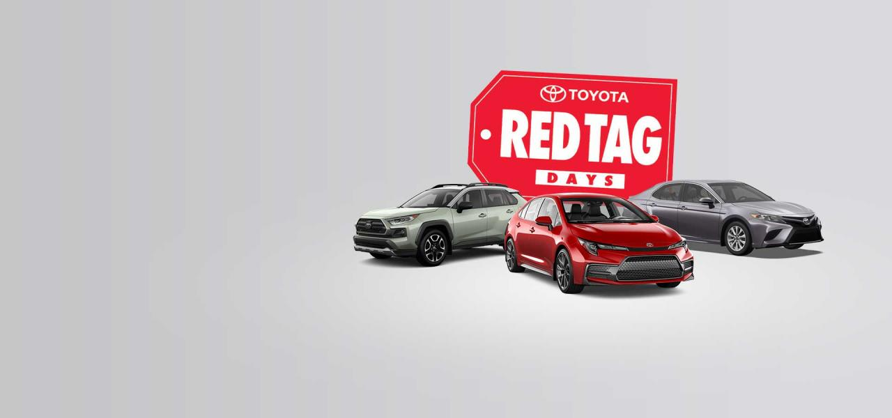 Red Tag Days Ends September 30, 2020