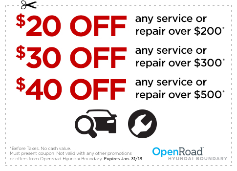 Hyundai Vancouver service coupons