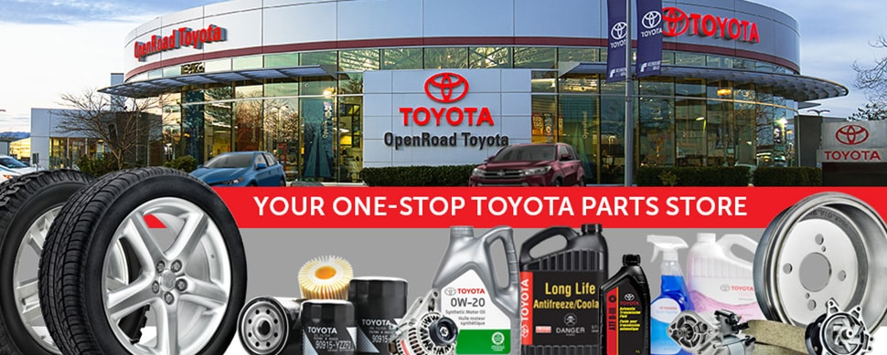 Toyota Parts Direct >> Parts And Accessory Store Openroad Toyota Richmond